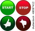 START and STOP button. Vector set for web. - stock photo