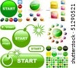 Start button for web. Vector great collection. - stock photo