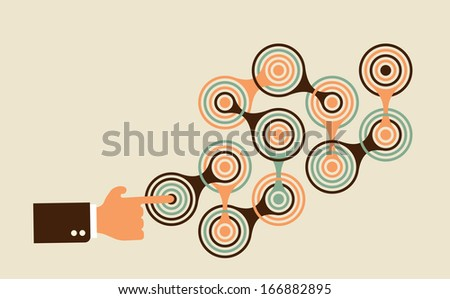 start complex multistep process to achieve a goal  - stock vector