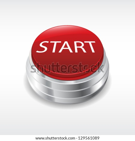 Start engine button - stock vector