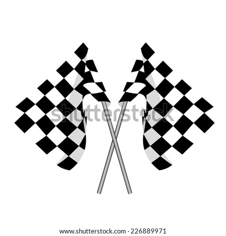 Start flag, checkered flag, finish flag, racing flag - stock vector