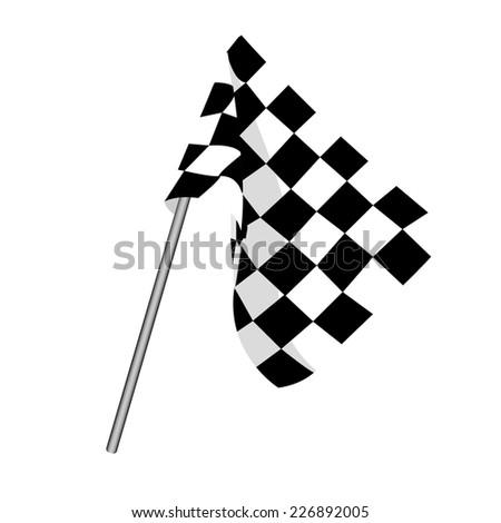 Start flag, checkered flag, finish flag, racing flag - stock vector