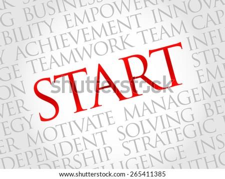 Start word cloud, business concept - stock vector