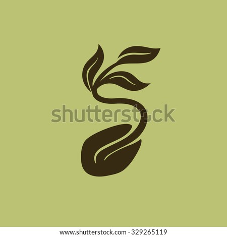 Starting plant from seed vector  - stock vector