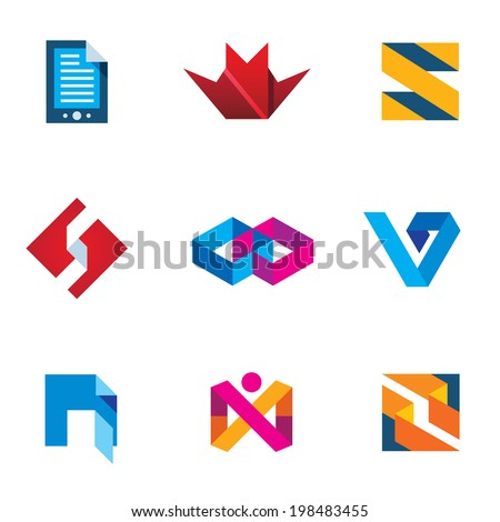 Startup innovation business innovation icon set next logo generation digital - stock vector