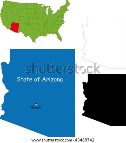 State of Arizona, USA - stock vector