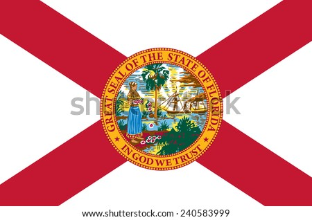 State of Florida Flag - stock vector