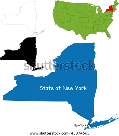 State of New York, USA - stock vector