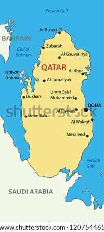 State of Qatar - vector map