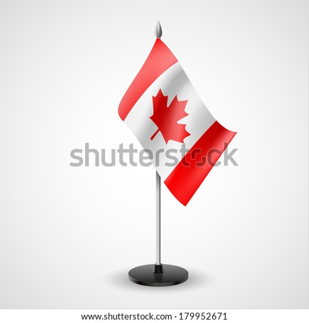 State table flag of Canada. National symbol   - stock vector