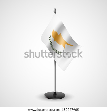 State table flag of Cyprus. National symbol   - stock vector