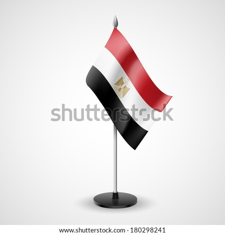 State table flag of Egypt. National symbol   - stock vector