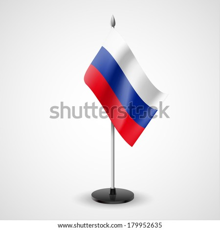 State table flag of Russian Federation. National symbol