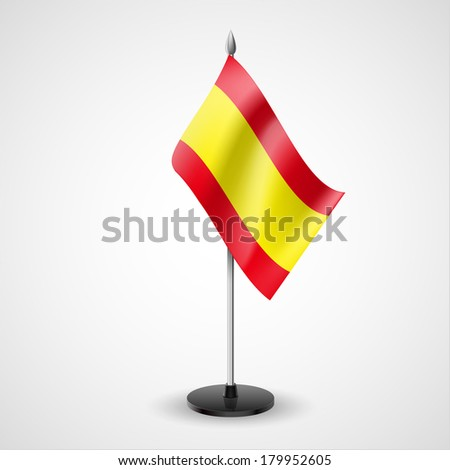 State table flag of Spain. National symbol   - stock vector