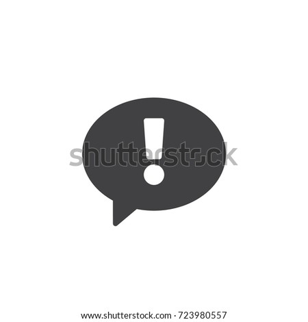 statement icon vector filled flat sign solid pictogram isolated on white exclamation point