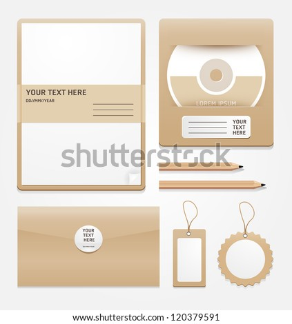 stationary brown paper/vector - stock vector
