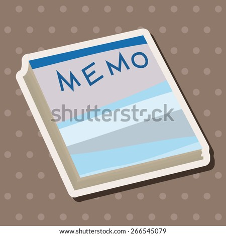 stationary note theme elements vector,eps - stock vector