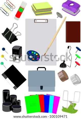 Stationery 2 - stock vector