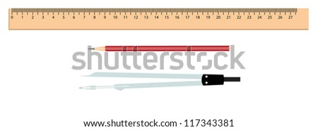 Stationery - stock vector