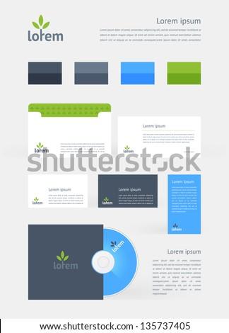 Stationery, Branding Mock-Up template - stock vector