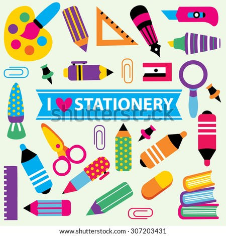 stationery clip art set