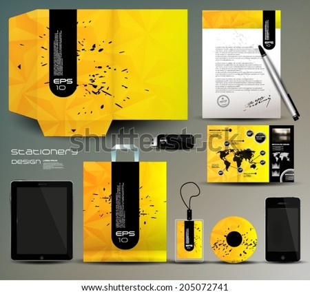 Stationery design, identity template  - stock vector