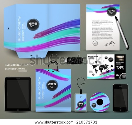 Stationery design, identity template
