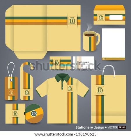 Stationery design set in vector format. - stock vector