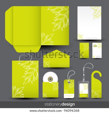 Stationery design set in vector format - stock vector