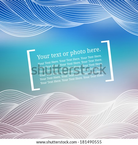Stationery design. Template. Cover