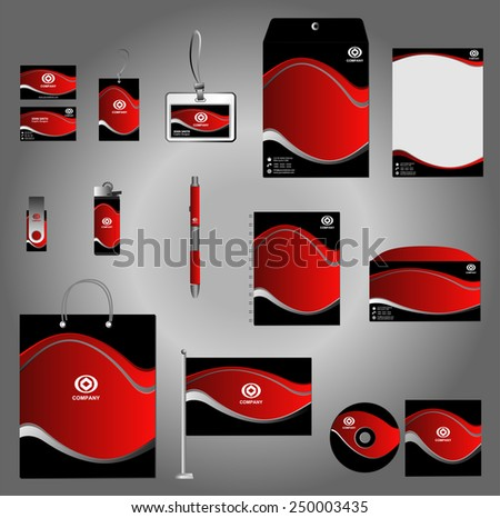 Stationery set design, Stationery template, Corporate identity design vector  - stock vector
