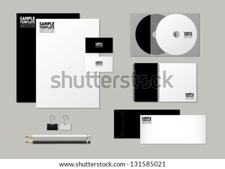 Stationery set templates - stock vector
