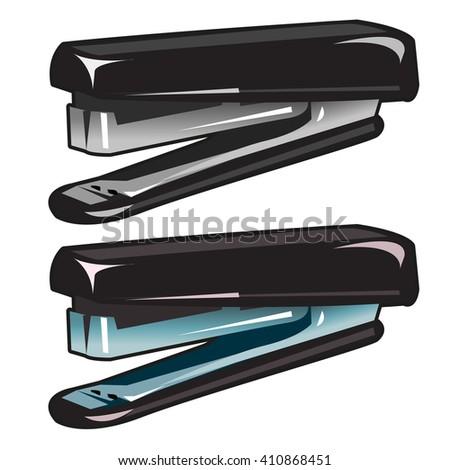 Stationery stapler. Vector illustration. - stock vector