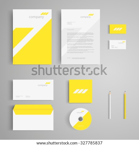 Stationery template logo corporate identity company stock vector corporate identity company branding cd business reheart Choice Image