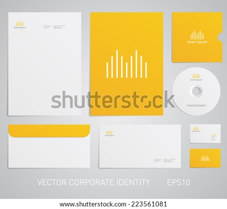 Stationery template with logo soundwave, equalizer, music, audio, store, technology, engineer. Corporate, company, identity, branding, brand, cd, business card, envelope, leaflet, letterhead, folder - stock vector