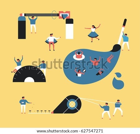 stationery vector illustration flat design