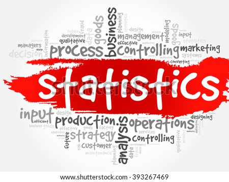 STATISTICS word cloud, business concept background - stock vector