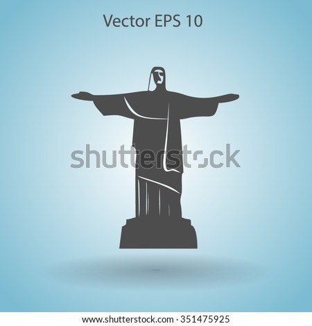 Statue of Christ vector illustration - stock vector
