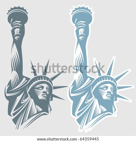 Statue of Liberty in New York City. - stock vector