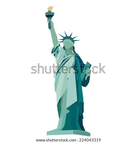 Statue Of Liberty Vector - stock vector
