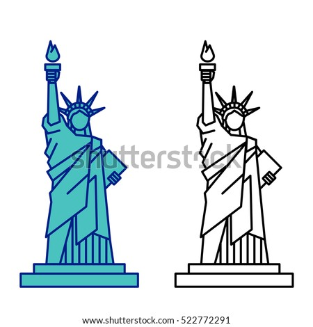statue liberty vector stock vector 522772291 shutterstock rh shutterstock com statue of liberty clip art black and white statue of liberty clipart immigrants welcome
