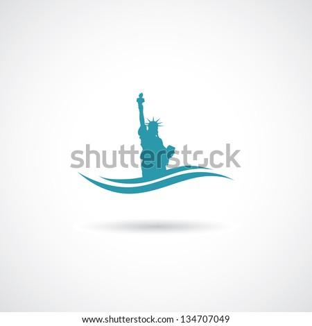 Statue of liberty - vector illustration - stock vector