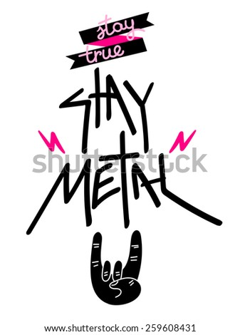 Stay True, Stay Metal Poster