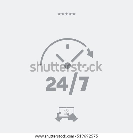 Steady services 24/7 - Vector web icon