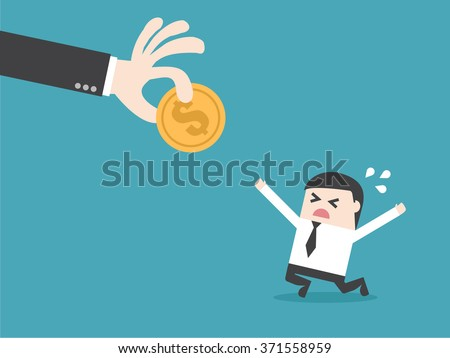 Steal money. Flat design business financial marketing banking concept cartoon illustration. Income tax. - stock vector