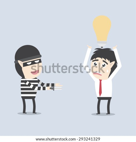Stealing idea - stock vector