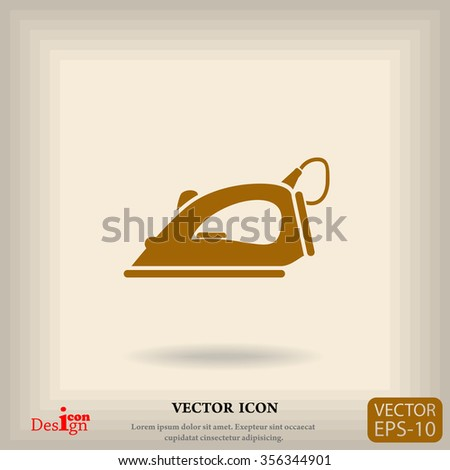 steam iron vector icon - stock vector