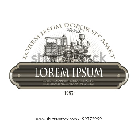 Steam locomotive. Vector format - stock vector