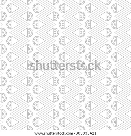 Steampunk seamless pattern, grey arrows - stock vector