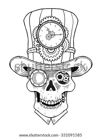 Steampunk Skull Stock Images RoyaltyFree Images Vectors Shutterstock